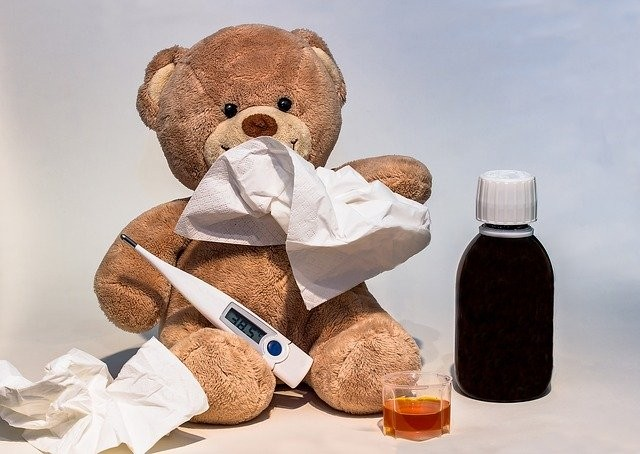 Teddybr-mit-Fiebertermometer---PIXABAY